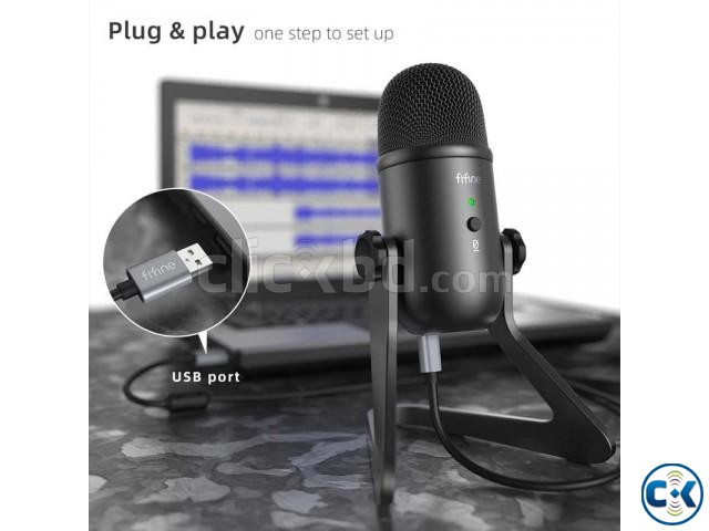 Fifine K678 Studio USB Microphone with a Live Monitoring | ClickBD large image 3