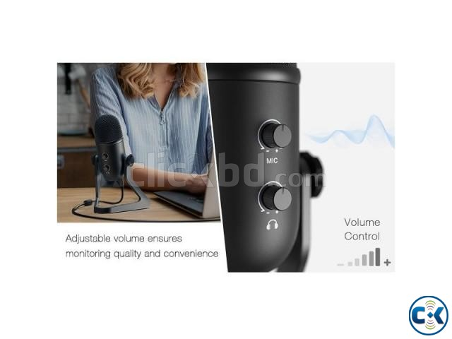 Fifine K678 Studio USB Microphone with a Live Monitoring | ClickBD large image 4