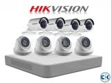 2MP Hikvision 8 Pcs CCTV camera Package With 1 TB Harddisk