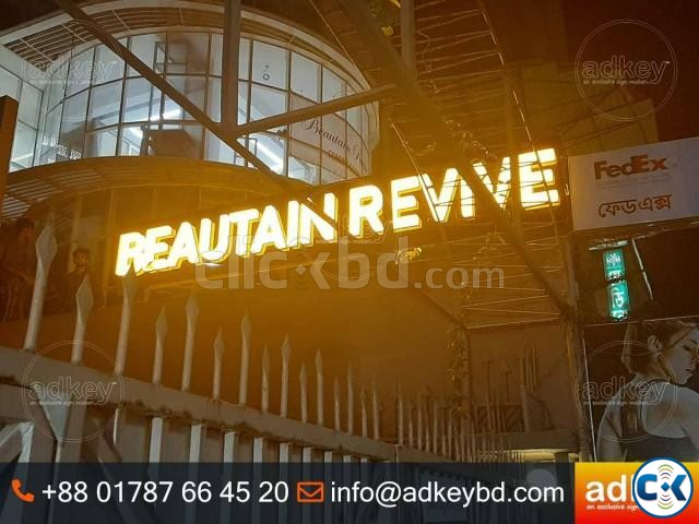 LED Sign Acrylic Top Letter LED Light Box Acrylic Letters | ClickBD large image 4