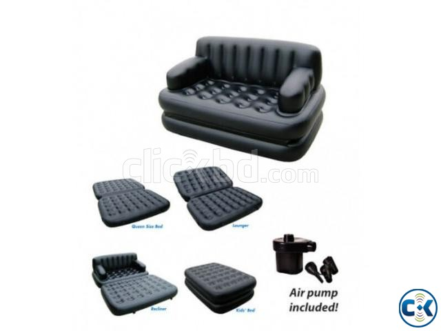 5 in 1 inflatable Sofa Air Bed | ClickBD large image 0