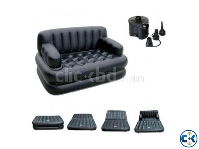 5 in 1 inflatable Sofa Air Bed | ClickBD large image 1