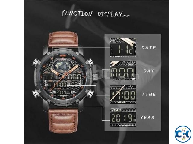 Naviforce NF9160 Men s Genuine Leather Watch | ClickBD large image 0