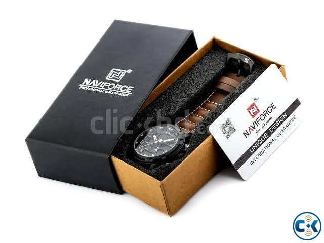 Naviforce NF9160 Men s Genuine Leather Watch | ClickBD large image 1