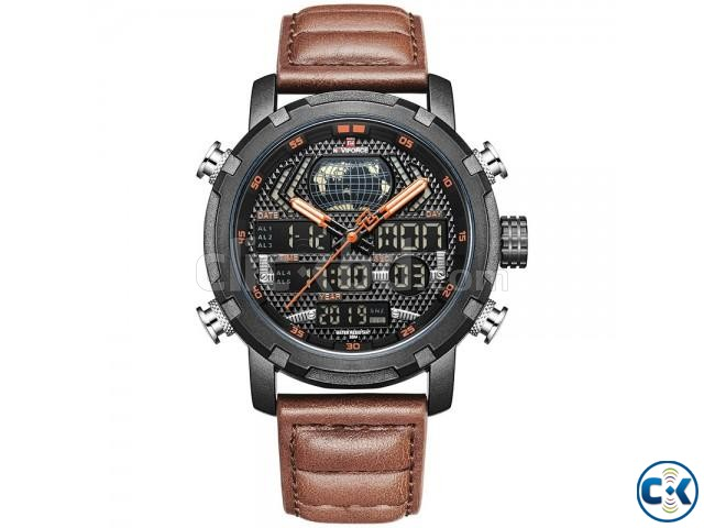 Naviforce NF9160 Men s Genuine Leather Watch | ClickBD large image 2