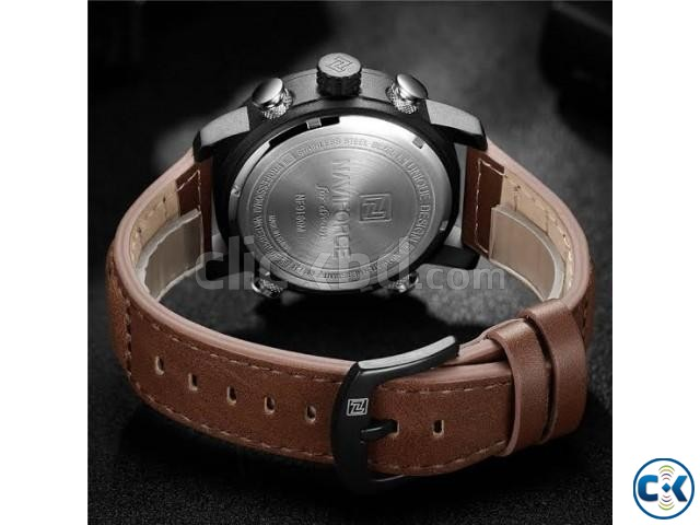Naviforce NF9160 Men s Genuine Leather Watch | ClickBD large image 3