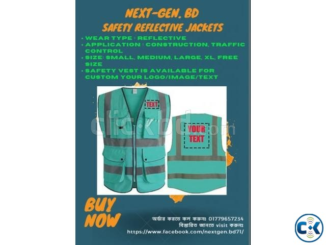 High Reflective Visibility Safety Vest Custom Your Logo  | ClickBD large image 2