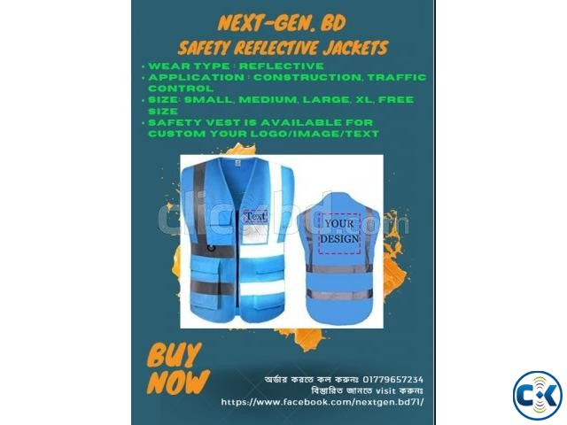 High Reflective Visibility Safety Vest Custom Your Logo  | ClickBD large image 3