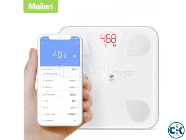 Smart weight Scale With Android iOS App- Body Fat Composit | ClickBD large image 0