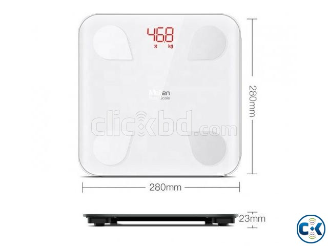 Smart weight Scale With Android iOS App- Body Fat Composit | ClickBD large image 1