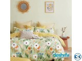 Bed Sheet Set - 1 Bed Sheet 1 Comforter Cover 2 Pillow Co