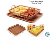 2pcs Copper Rectangular Crispy Tray