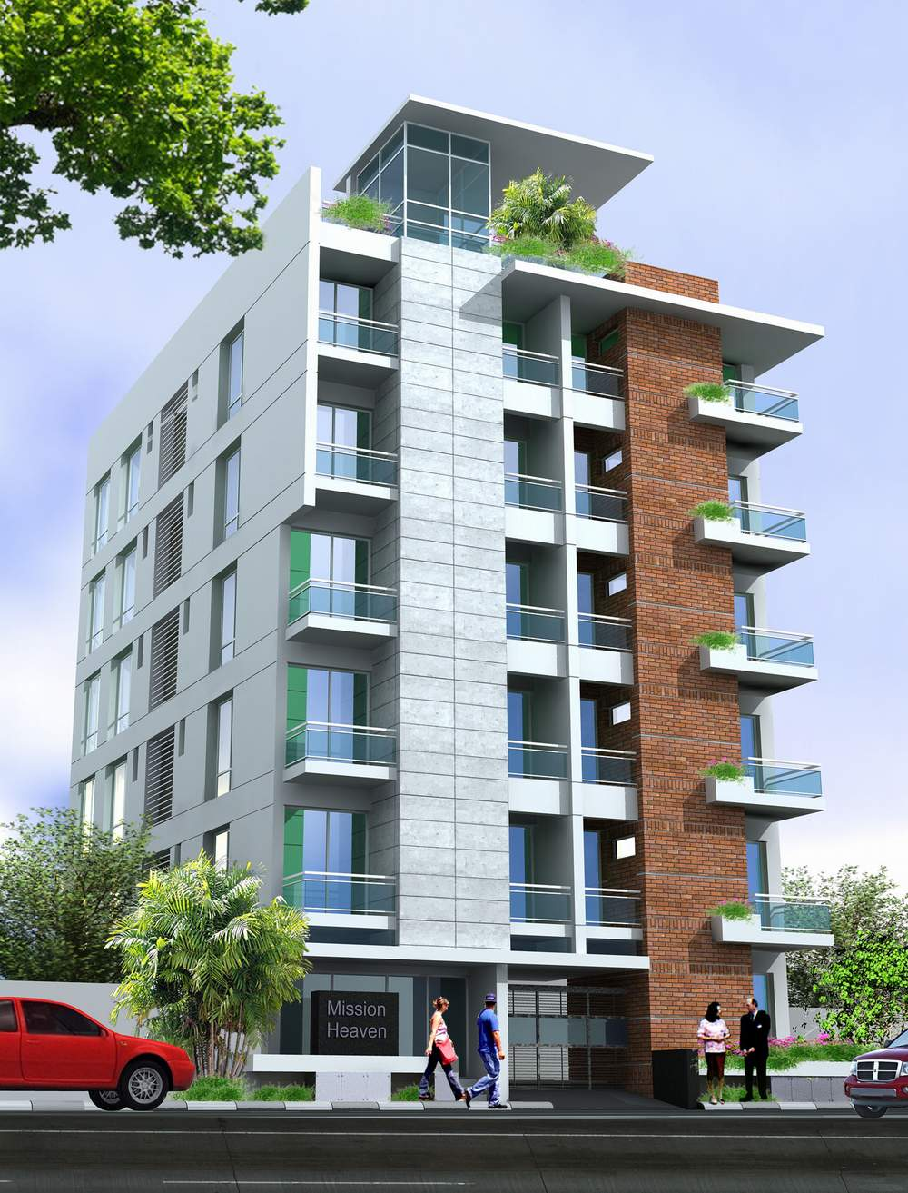 APARTMENT TO-LET AT BASHUNDHARA R A FROM JUNE 2011 | ClickBD large image 0