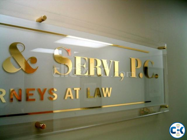 3D LED Latter Sign SS and Acrylic Latter Nameplate Making | ClickBD large image 1