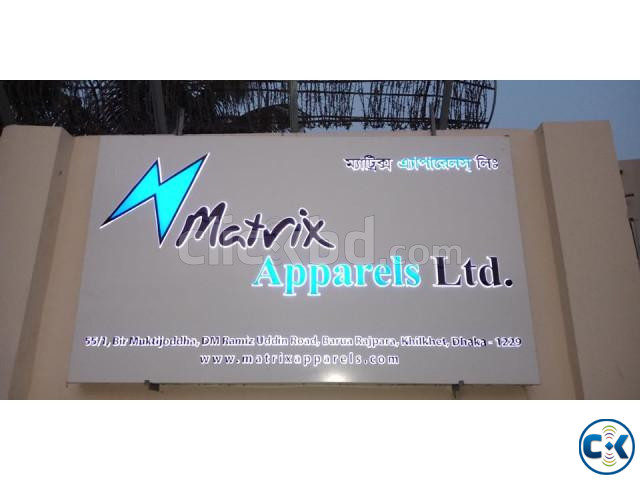 3D LED Latter Sign SS and Acrylic Latter Nameplate Making | ClickBD large image 3