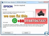 Service Required on Epson Printers 100 Fixed - 01687067337