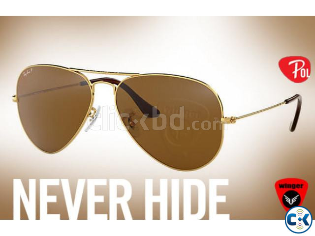 Ray-Ban Polarized Aviator J | ClickBD large image 0