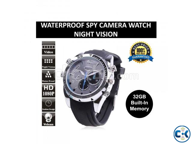 Waterproof Spy Camera Watch 32GB Voice Video Recorder | ClickBD large image 0