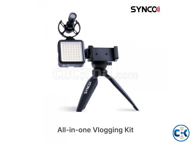Synco Vlogger Kit2 for SmartPhone with Microphone Light | ClickBD large image 0