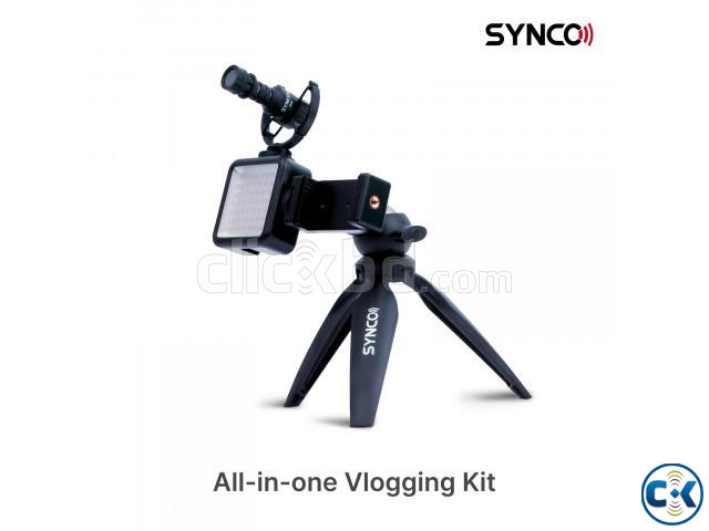 Synco Vlogger Kit2 for SmartPhone with Microphone Light | ClickBD large image 1