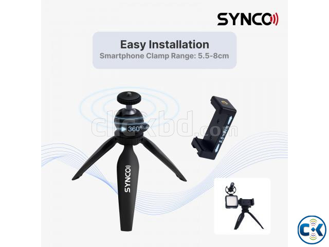 Synco Vlogger Kit2 for SmartPhone with Microphone Light | ClickBD large image 3