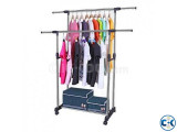 Double Pole Clothes Rack Portable Clothes Stand - 6808