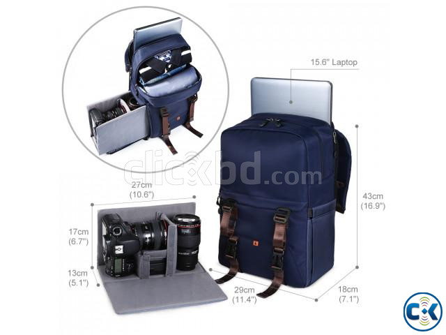 K F Concept KF13.087 Multifunctional Waterproof Camera Bag | ClickBD large image 1