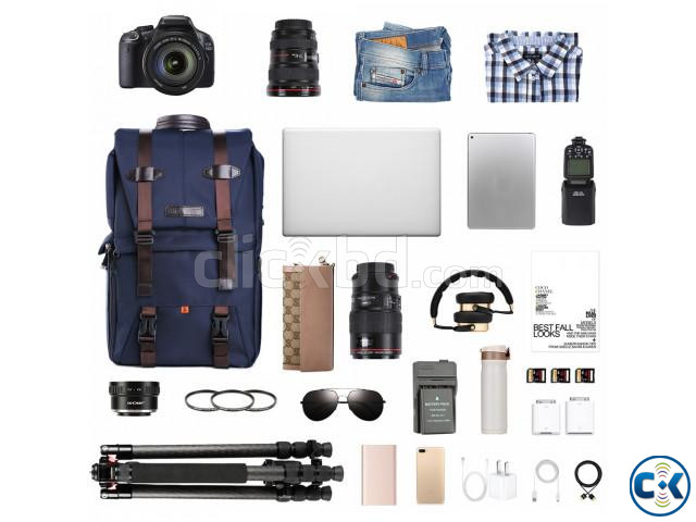 K F Concept KF13.087 Multifunctional Waterproof Camera Bag | ClickBD large image 2
