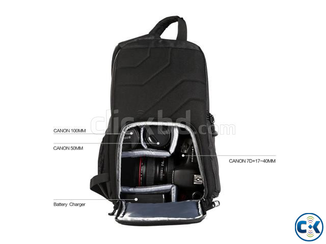 K F Concept KF13.050 Waterproof Sling Camera Backpack | ClickBD large image 1