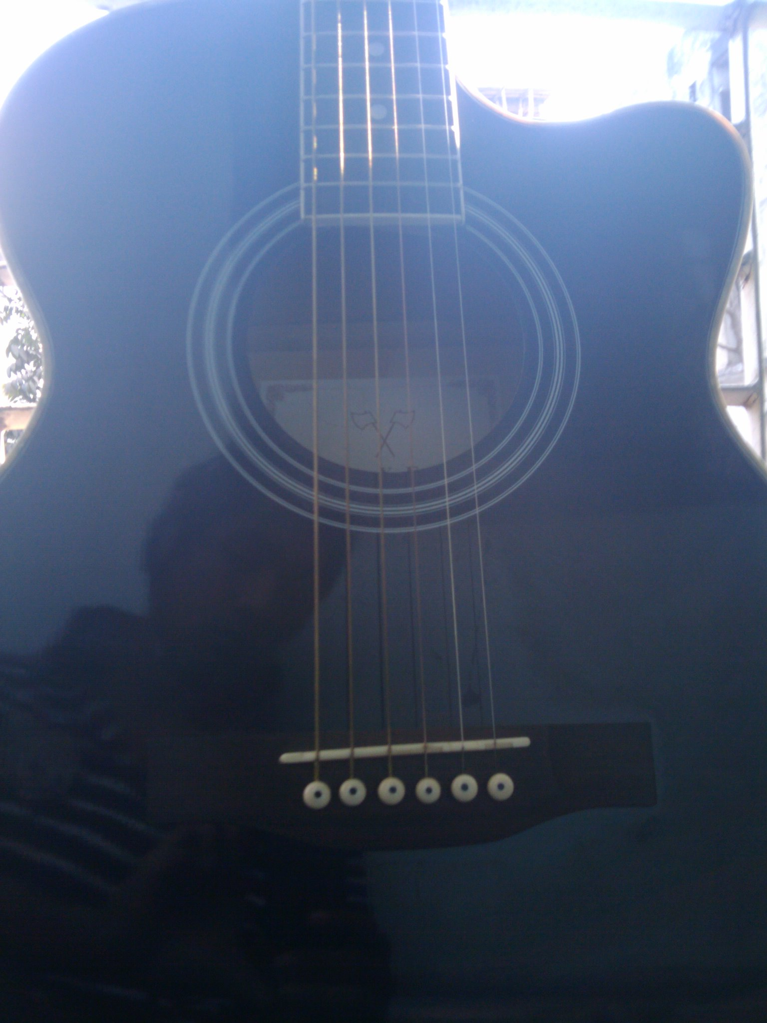 Nice Black Accoustic Guitar | ClickBD large image 1