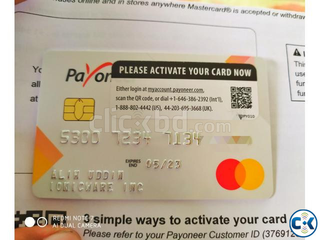 Payonner Mastercard sell account all document | ClickBD large image 0