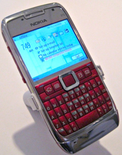 Nokia E71. red color Made in Korea. | ClickBD large image 0