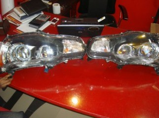 angle eye head lights for lancer ex