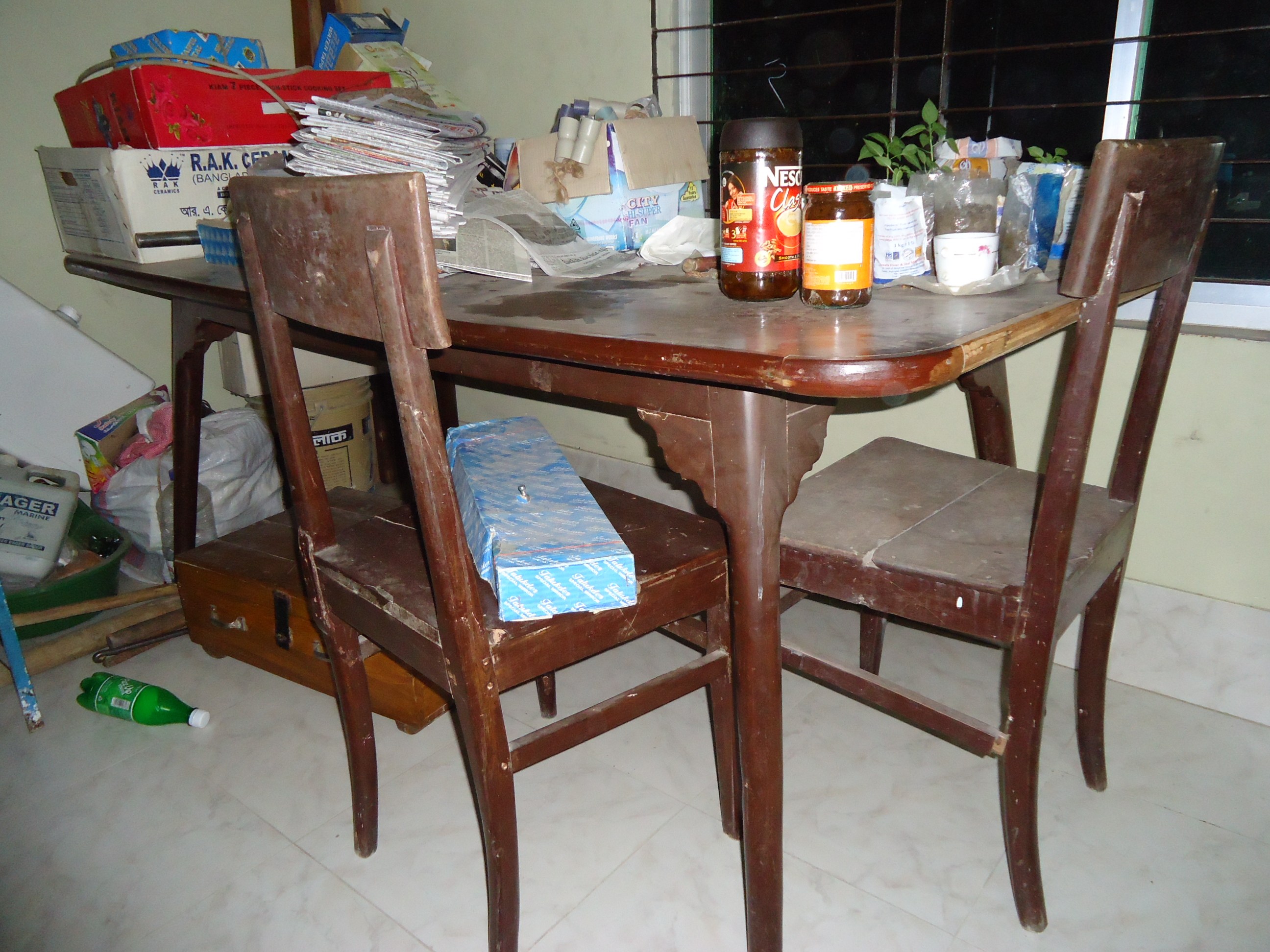 Dining table with 6 chair | ClickBD large image 0