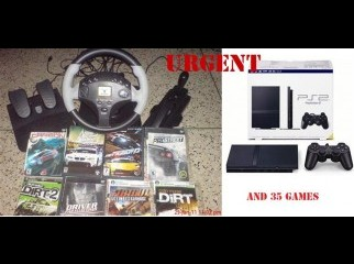 URGENT PS2 Game Wheel 1Contro 8MB card 35game DVD