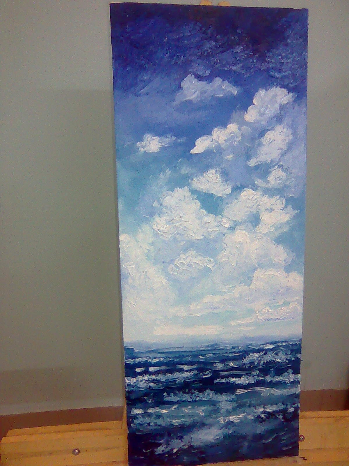 Oil painting of the sky and sea. | ClickBD large image 0