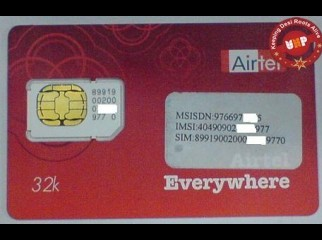 SIM airtel post paid sim without LINE RENT..Corporate