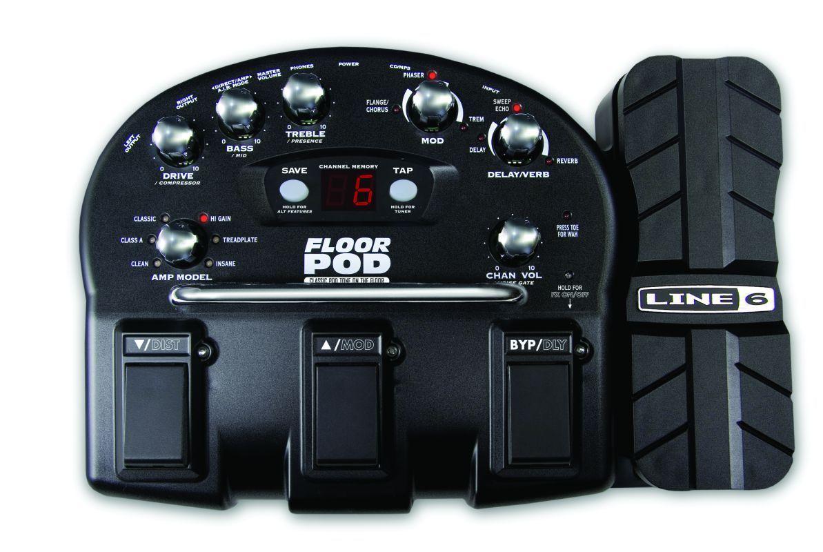 Floyd Rose korean guitar with Line 6 Floor pod  | ClickBD large image 0
