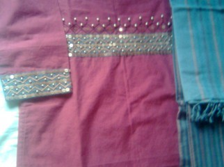 TAT Salwar Kameez with Hand Stitch .