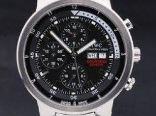 IWC Schaffhausen Aquatimer Silver Case Black Dial