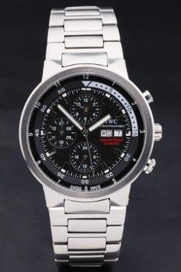 IWC Schaffhausen Aquatimer Silver Case Black Dial | ClickBD large image 0