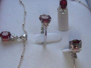 Original Ruby Stone Jewelry