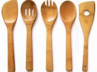 Bamboo cutlery spoon