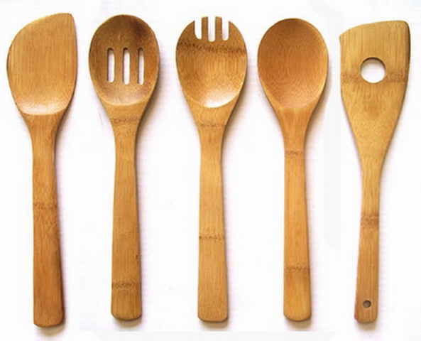 Bamboo cutlery spoon | ClickBD large image 0