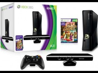 Intact Xbox 360 4GB with Kinect 3 original game