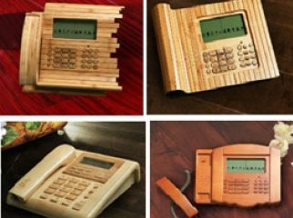 Bamboo made telephone