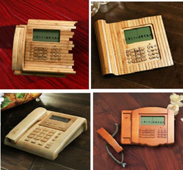 Bamboo made telephone   ClickBD large image 0