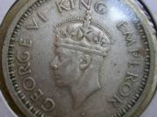 British India Coin King George VI 1942 One Rupee