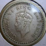 British India Coin King George VI 1942 One Rupee | ClickBD large image 0
