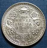 British India Coin King George VI 1942 One Rupee | ClickBD large image 1